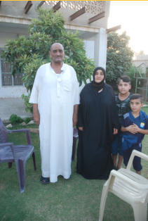 This is the family that lost two sons to war, both to ISIS.  This is the aunt and uncle of my host. The man is named Mohammad.