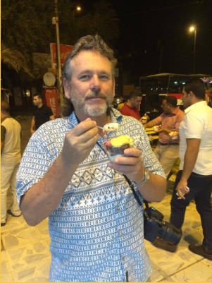 Enjoying ice cream in the center of Baghdad